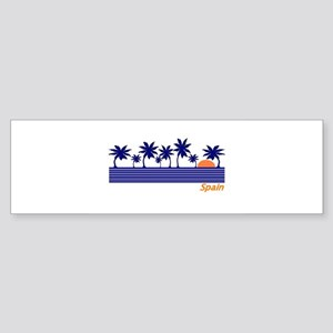 Spain Blue Palms Bumper Sticker