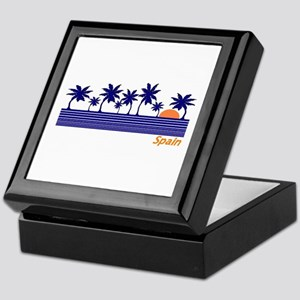 Spain Blue Palms Keepsake Box