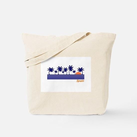 Spain Blue Palms Tote Bag