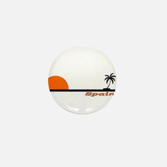 Spain Black Palm Mini Button