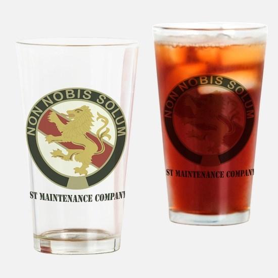 1stMC-text Drinking Glass
