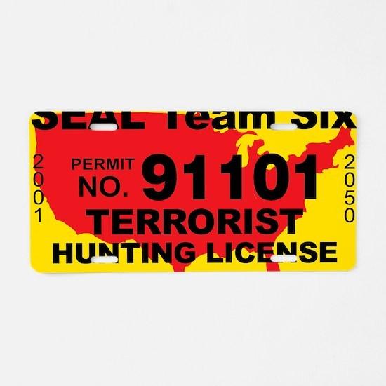 TH-License-SEAL-Team-Six Aluminum License Plate
