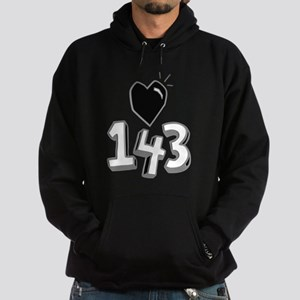 143 means I Love You Hoodie