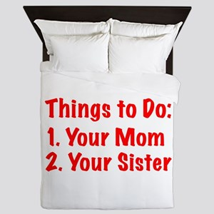 Things to Do Queen Duvet