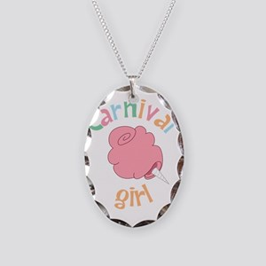 Carnival Girl Necklace Oval Charm