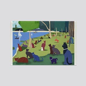 Cats On The Jatte Magnet Magnets