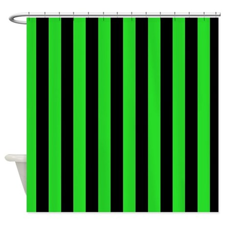 green and black stripes shower curtain by coolpatterns. Black Bedroom Furniture Sets. Home Design Ideas