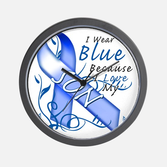 I Wear Blue Because I Love My Son Wall Clock