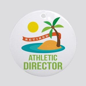 Retired Athletic Director Ornament (Round)