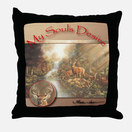 """My Souls Desire"" Red Fine Art Wild Life Pillow"