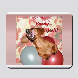 Candy Holiday Dachshund Dog Mousepad