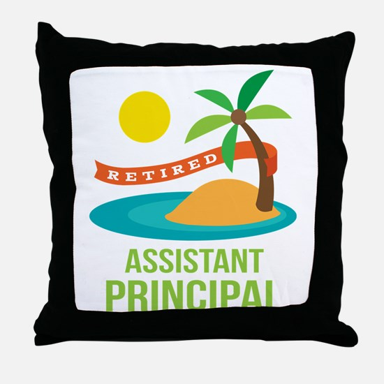 Retired Assistant Principal Throw Pillow