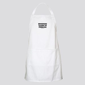 Spooning leads to forking / party humor BBQ Apron