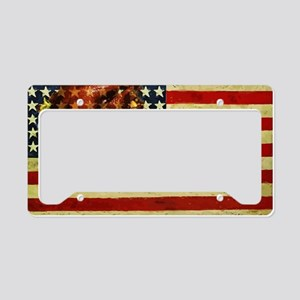 Thanksgiving Day Flag License Plate Holder