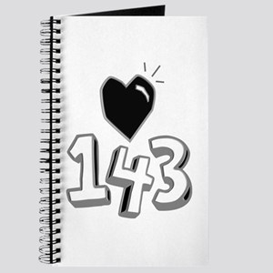 143 means I Love You Journal