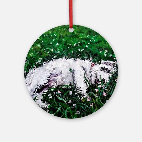 Sealyham Terrier Round Ornament