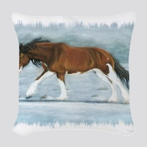Clydesdale Woven Throw Pillow