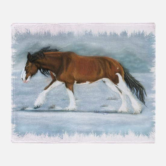 Clydesdale Throw Blanket