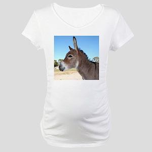 Miniature Donkey Maternity T-Shirt