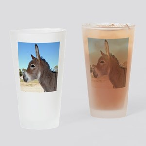 Miniature Donkey Drinking Glass