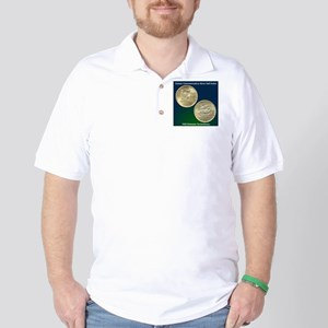 Delaware Tercentenary Half Dollar Coin Golf Shirt