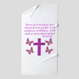 ISAIAH 41:10 Beach Towel