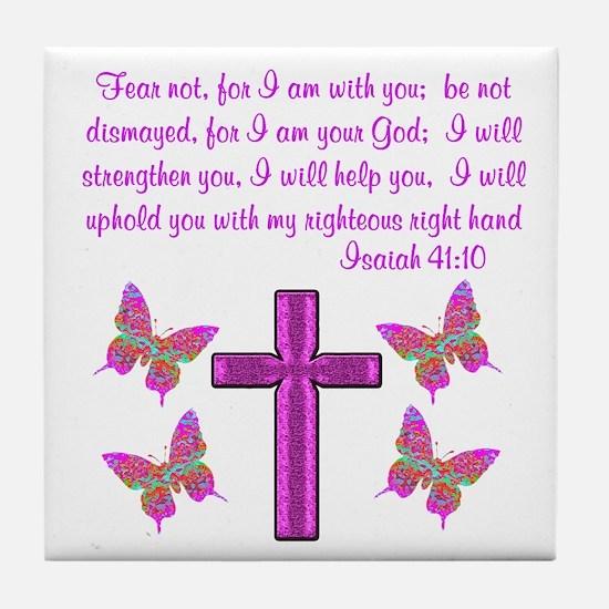 ISAIAH 41:10 Tile Coaster