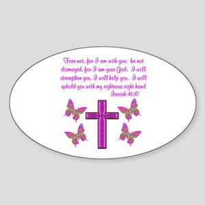 ISAIAH 41:10 Sticker (Oval)