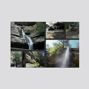 Waterfalls  Caves Collage, Ohio Rectangle Magnet