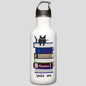 Home is where cat and  Stainless Water Bottle 1.0L