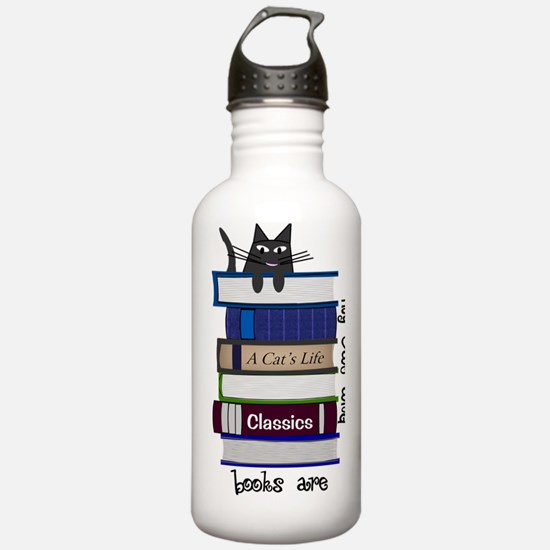 Home is where cat and  Water Bottle