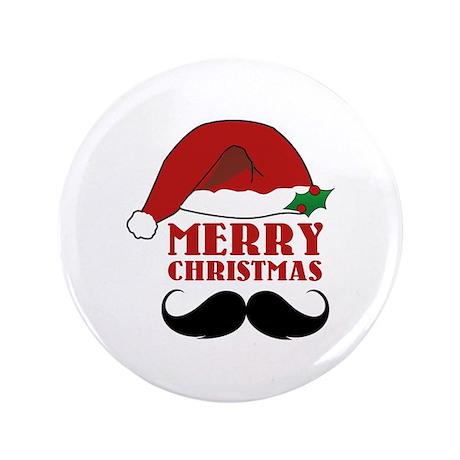 "Merry Christmas 3.5"" Button"