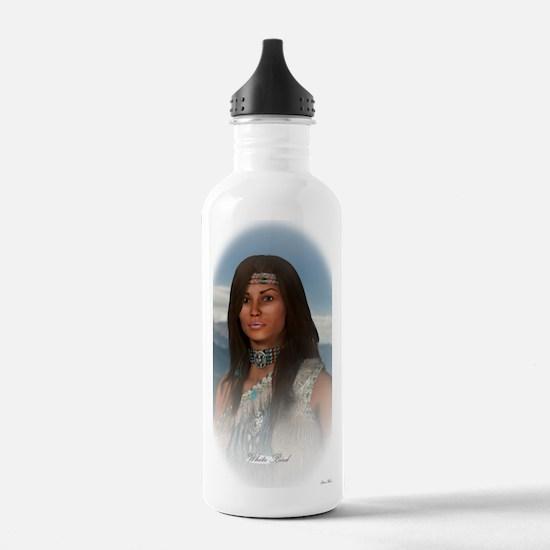 White Bird oval Water Bottle