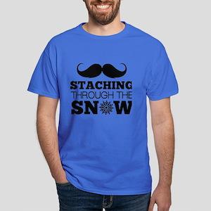 Staching Through The Snow Dark T-Shirt