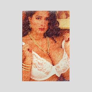 Busty Pinup Girl - Joyce Rectangle Magnet