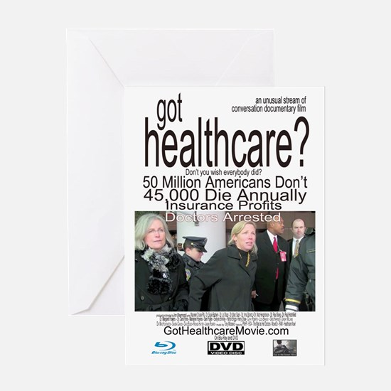 got healthcare? with Margaret Flower Greeting Card