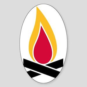 fire Sticker (Oval)