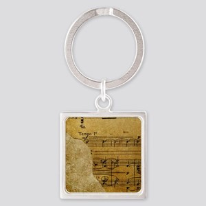 torn music wallet Square Keychain