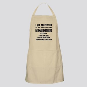 I am protected by the good lord and Ge Light Apron