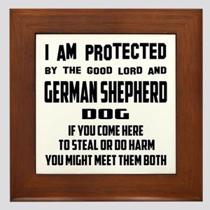 I am protected by the good lord and Ge Framed Tile