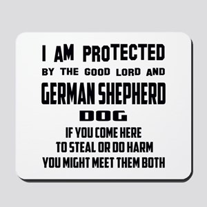 I am protected by the good lord and Germ Mousepad
