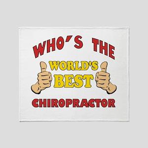 Thumbs Up Worlds Best Chiropractor Throw Blanket