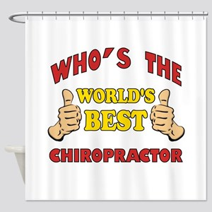 Thumbs Up Worlds Best Chiropractor Shower Curtain