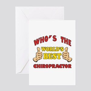 Thumbs Up Worlds Best Chiropractor Greeting Card