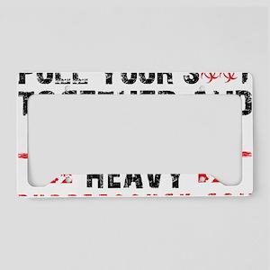 PYST - LIFT HEAVY - WHITE License Plate Holder