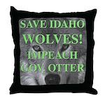 Save Idaho Wolves Throw Pillow