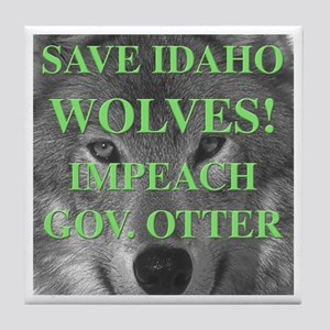 Save Idaho Wolves Tile Coaster