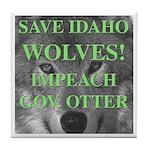 Save Idaho Wolves Tile Coaster