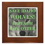 Save Idaho Wolves Framed Tile
