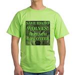 Save Idaho Wolves Green T-Shirt